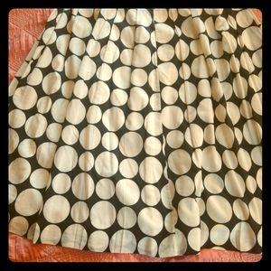 Vintage Anne Klein polka dot midi skirt
